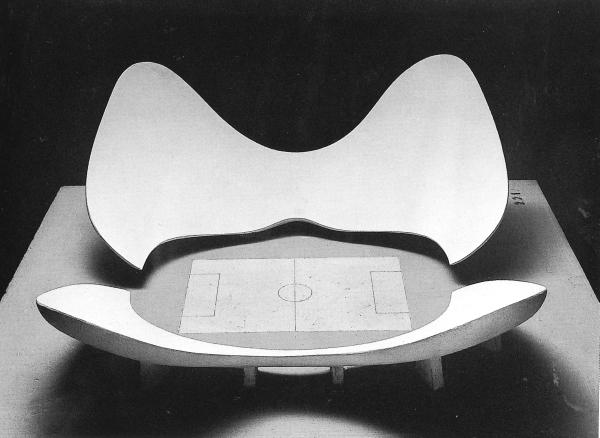 Luigi Moretti: Futball stadion modell, 1960