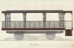 A III. Napóleon számára tervezett vasúti kocsi terve, 1856 © Ministère de la Culture - Médiathèque du Patrimoine, Dist. RMN-Grand Palais
